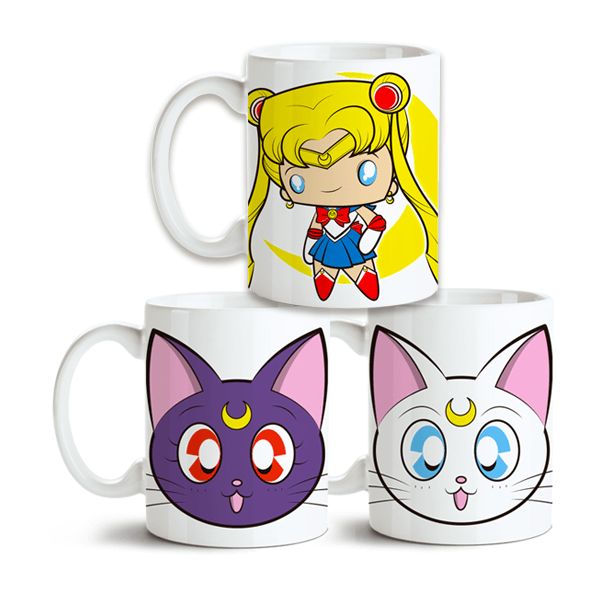 Conjunto de Canecas Sailor Moon no Toonicos 1