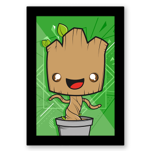 Poster Guardiões da Galaxia - Groot no Toonicos 1