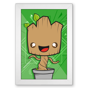 Poster Guardiões da Galaxia - Groot no Toonicos 2